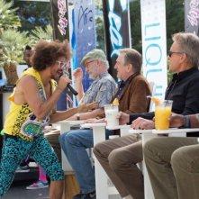 Last Vegas: Michael Douglas, Morgan Freeman, Kevin Kline e Robert De Niro in una divertente scena del film