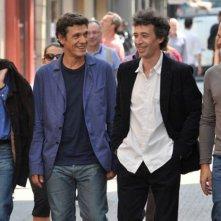 Bernard Campan, Marc Lavoine, Jean-Pierre Darroussin, Eric Elmosnino nel film Le coeur des hommes 3