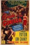 Bride of the Gorilla: la locandina del film