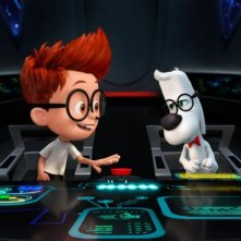 Mr. Peabody e Sherman: i due protagonisti della storia in una scena del film animato
