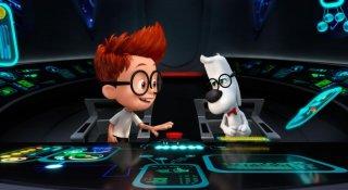 Mr. Peabody e Sherman: i due protagonisti della storia in una scena del film animato