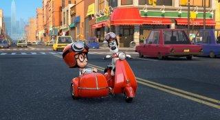 Mr. Peabody e Sherman: i due protagonisti scenziati in una scena del film della Dreamworks
