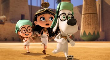 Mr. Peabody e Sherman: i nostri eroi a spasso nel tempo in un'immagine del film