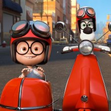 Mr. Peabody e Sherman: Sherman con Mr Peadoby in una scena del film della Dreamworks