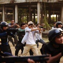 The White Storm: Nick Cheung in una scena del film d'azione