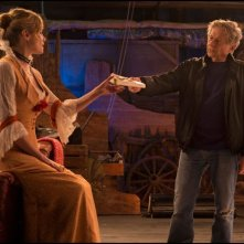 Venere in pelliccia: il regista Roman Polanski sul set con Emmanuelle Seigner