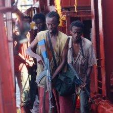 Captain Phillips - Attacco in mare aperto: pirati somali attaccano la nave americana in una scena del film