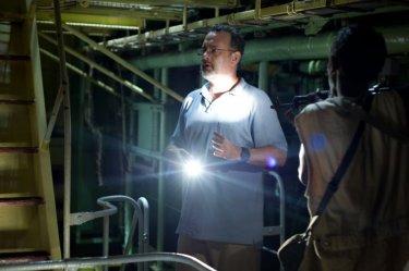 Captain Phillips - Attacco in mare aperto: Tom Hanks in una scena del film