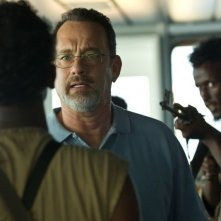 Captain Phillips - Attacco in mare aperto: Tom Hanks in una scena del film è il Capitano Richard Phillips