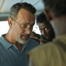 Captain Phillips - Attacco in mare aperto: Tom Hanks nei panni del Capitano Richard Phillips cerca di trattare con i pirati somali