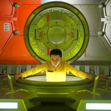 Ender's Game: Asa Butterfield in una scena nei panni di Ender