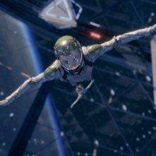 Ender's Game: Asa Butterfield in una spettacolare scena del film