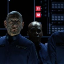 Il gioco di Ender: Ben Kingsley con Harrison Ford in una scena