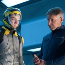 Il gioco di Ender: Harrison Ford con la recluta Asa Butterfield in una scena del film fantascientifico