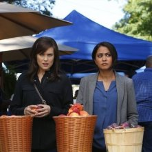 The Blacklist: Parminder Nagra e Megan Boone nell'episodio The Courier