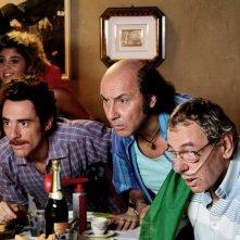 Elio Germano nel film L'ultima ruota del carro con Maurizio Battista e Ricky Memphis