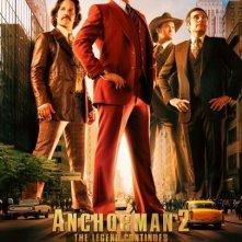 The Anchorman 2: la locandina