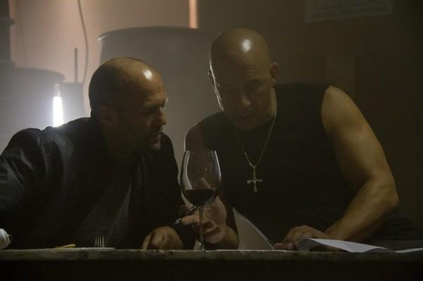 Fast & Furious 7: Vin Diesel e Jason Statham in una scena del film