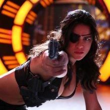 Michelle Rodriguez sexy pistolera in Machete Kills
