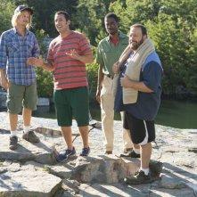 Un weekend da bamboccioni 2: Kevin James, Adam Sandler, David Spade e Chris Rock in una scena