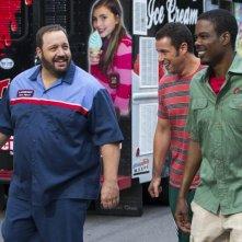 Un weekend da bamboccioni 2: Kevin James, Adam Sandler e Chris Rock in una scena del film