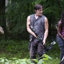 The Walking Dead: Danai Gurira, Norman Reedus e Lawrence Gilliard Jr. nell'episodio Isolation
