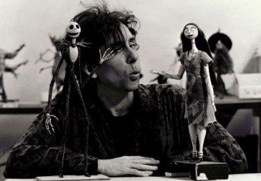Tim Burton sul set di Nightmare Before Christmas