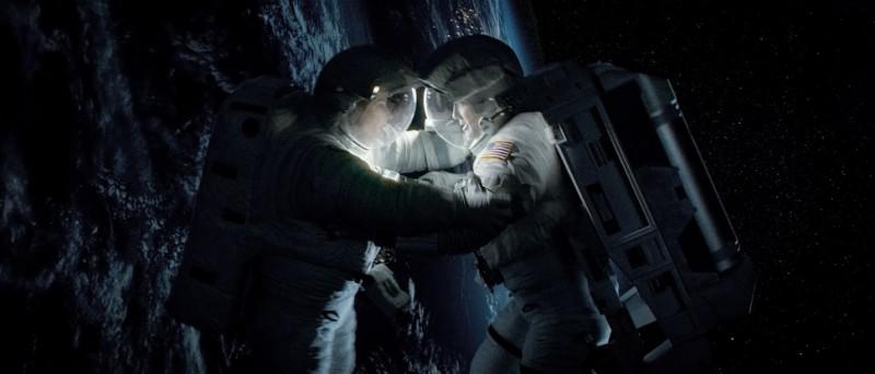 Gravity Sandra Bullock E George Clooney Fluttuano Nello Spazio In Una Sequenza 290405