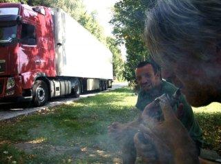 TIR: Branko Završan sul set con il regista Alberto Fasulo
