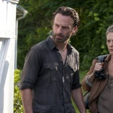 The Walking Dead:  Andrew Lincoln e  Melissa McBride nell'episodio Indifferenza