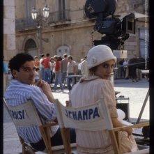 Le vie del signore sono finite: Massimo Troisi e Jo Champa sul set (foto di MARIO TURSI)