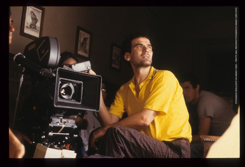 Le vie del signore sono finite: Massimo Troisi sul set (foto di MARIO TURSI)