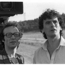 Non ci resta che piangere: Massimo Troisi e Roberto Benigni sul set (foto di MARIO TURSI)