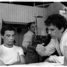 Scusate il ritardo: Massimo Troisi sul set con Franco Acampora (foto di MARIO TURSI)
