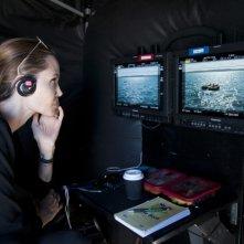 Unbroken: Angelina Jolie intenta a riguardare i giornalieri