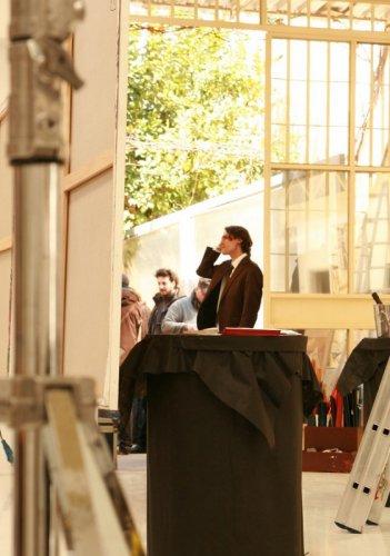 Marco Cocci sul set di Mr. America.