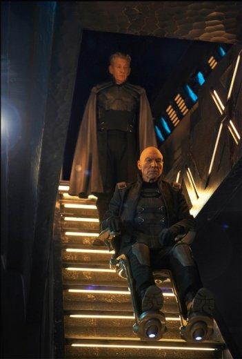 X-Men: Giorni di un futuro passato - Patrick Stewart e Ian McKellen in una scena