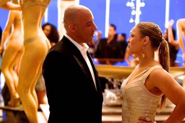 Fast & Furious 7: Vin Diesel con Ronda Rousey
