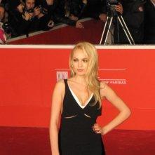 Stalingrad 3D: la bionda Yanina Studilina al Festival di Roma 2013, sul tappeto rosso