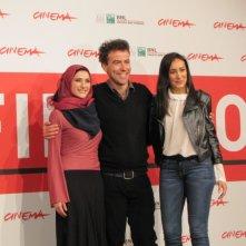 Border al Festival di Roma 2013 - il regista Alessio Cremonini con Dana Keilani e Sara El Debuch
