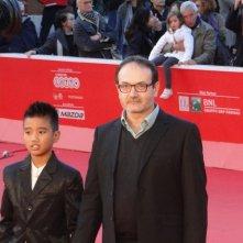 Se chiudo gli occhi non sono più qui: il regista Vittorio Moroni con Kim De Quilla sul tappeto rosso di Roma 2013