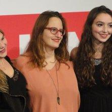 Sitting Next to Zoe: Ivana Lalovic, Lea Bloch e Runa Greiner durante il photocall a Roma 2013