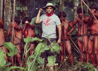 The Green Inferno: il regista Eli Roth in un'immagine dal set del film