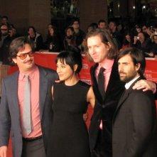 Festival di Roma 2013 - Roman Coppola con Wes Anderson, GIada Colagrande e Jason Schwartzman sul red carpet