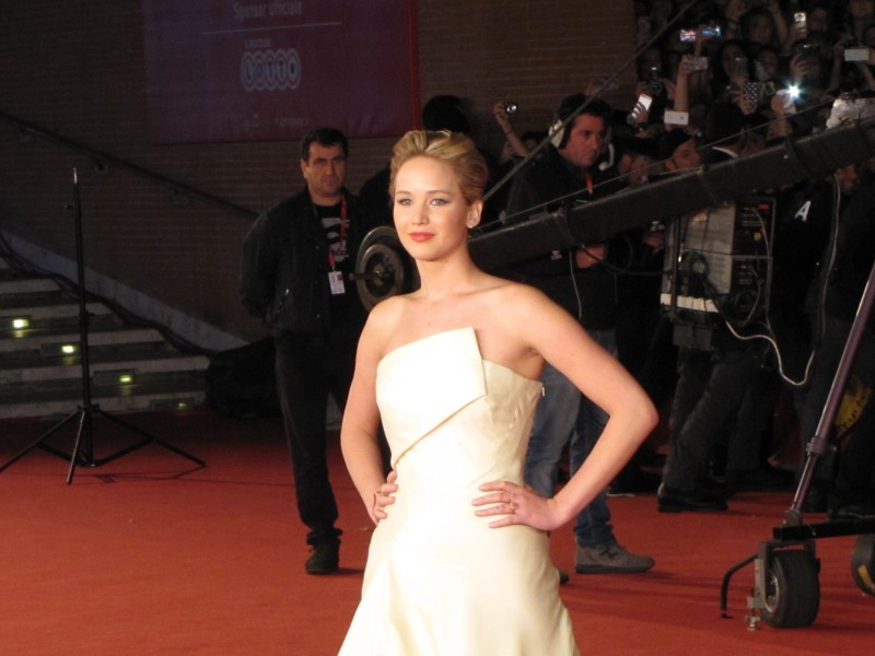 Hunger Games La Ragazza Di Fuoco Jennifer Lawrence A Roma 2013 Sul Red Carpet Della Kermesse 292131