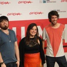 Roma 2013: i giovani registi Diego Ayala ed Anibal Jofré con la produttrice di Cut Down Kite