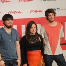 Roma 2013: i giovani registi Diego Ayala ed Anibal Jofré insieme alla produttrice di Cut Down Kite