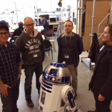 Star Wars: Episode VII  - J.J. Abrams sul set con R2D2