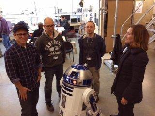 Star Wars: Episode VII  - J.J. Abrams sul set con R2D2