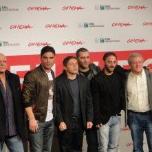 Take Five: il regista Guido Lombardi col cast del film a Roma 2013